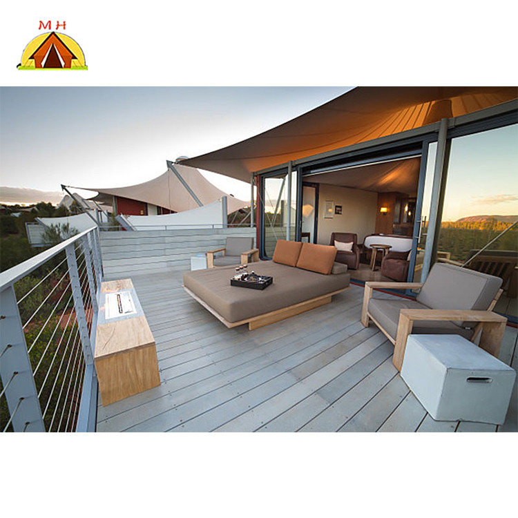 Confort safari de luxe toile resort glamping <span class=keywords><strong>tente</strong></span> d'hôtel de <span class=keywords><strong>meubles</strong></span> de chambre à vendre