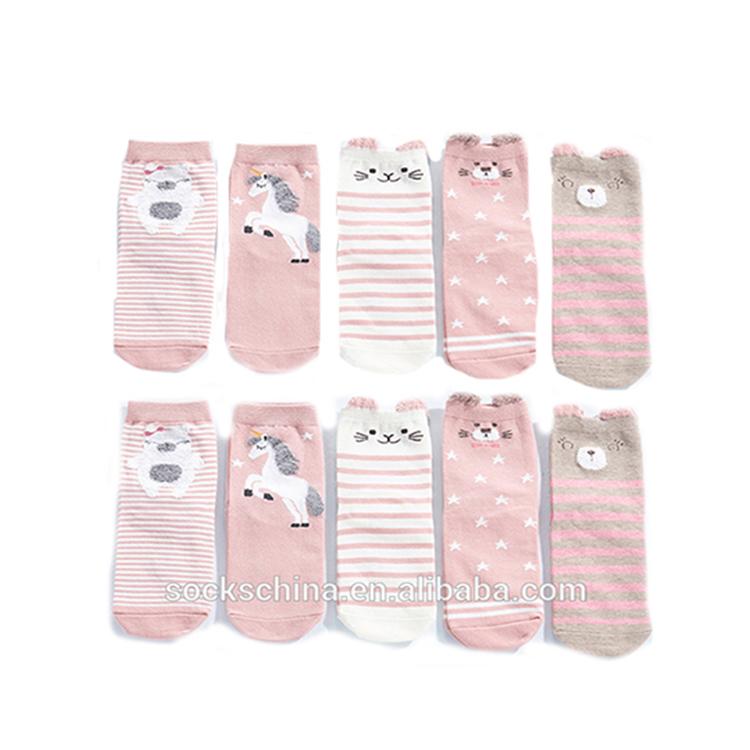 2019 Новые красочные розовые милые девушки 100 хлопок Пользовательские Yong подростков носки милые