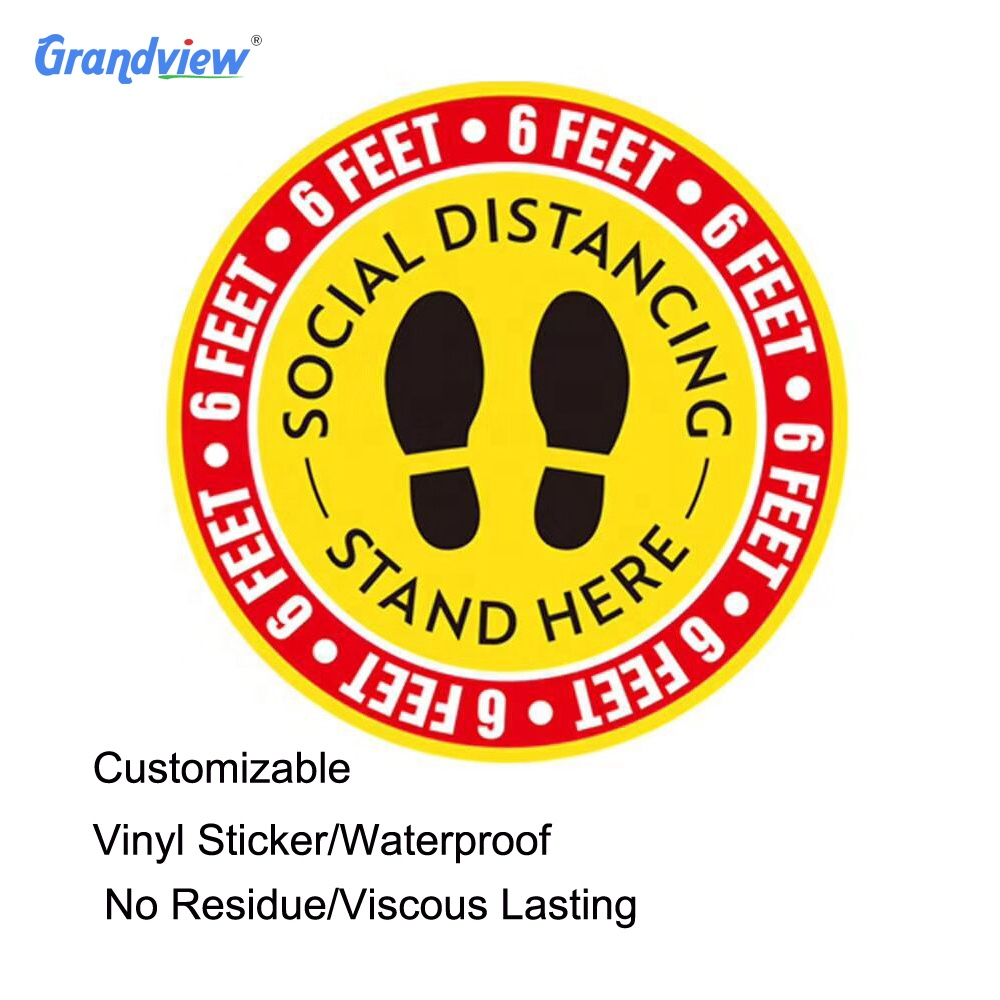 High quality social distancing decal 15 inch social distance sticker usa