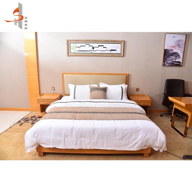 غير عادية الحديثة فيتنام نمط الصلبة أثاث غرف النوم الخشبية مخصص للفندق الفاخر