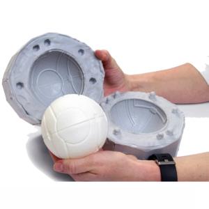 Durevole DELL'UNITÀ di Fusione di Alluminio Giocattolo Colpo Stampo Per I Bambini Rimbalzante Kickball Muffa