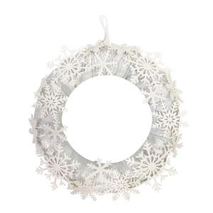 الجملة الفضة الأبيض ندفة الثلج اكليلا معلقة طقم التزيين الزفاف جارلاند ديكور الزفاف الفاخرة