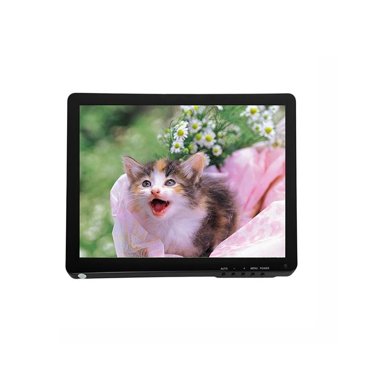 12 V DC input monitor LCD com 15 polegadas OEM/ODM tempo de resposta de milissegundos 8
