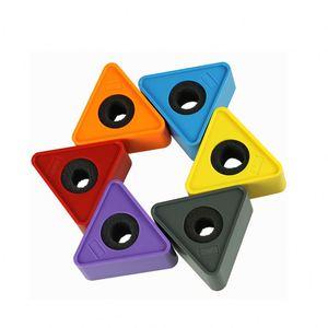Personnalisez la Station de drapeau de Logo de Microphone d'interview de Microphone de discours de forme de Triangle