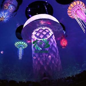 Цифровой наружный водяной дождь Графический занавес музыкальный водяной принтер занавес для шоу