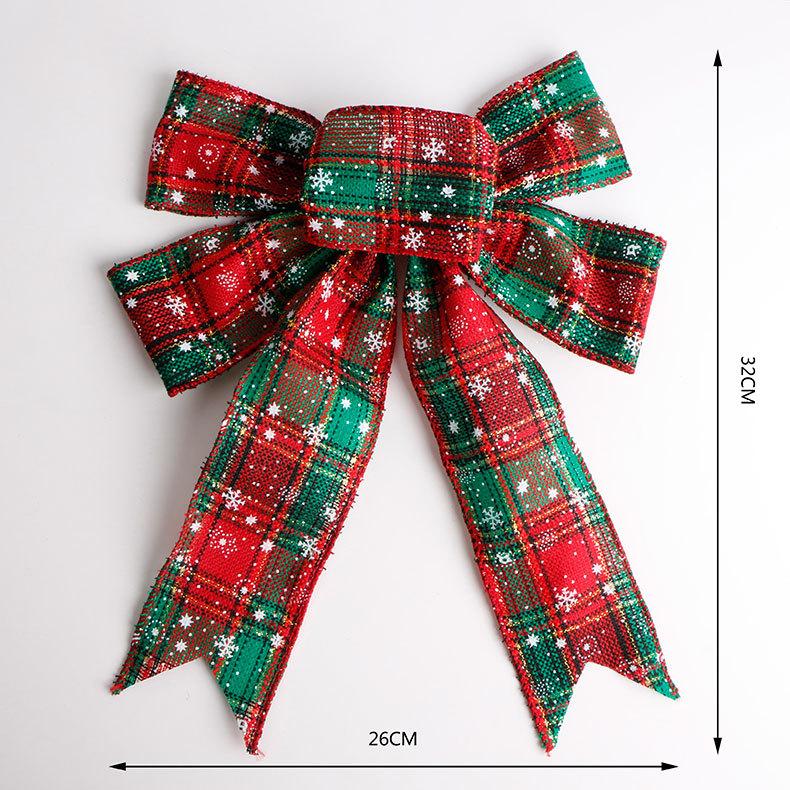 En stock al por mayor fiesta de arco de la cinta Navidad árbol adorno de Navidad rojo arcos
