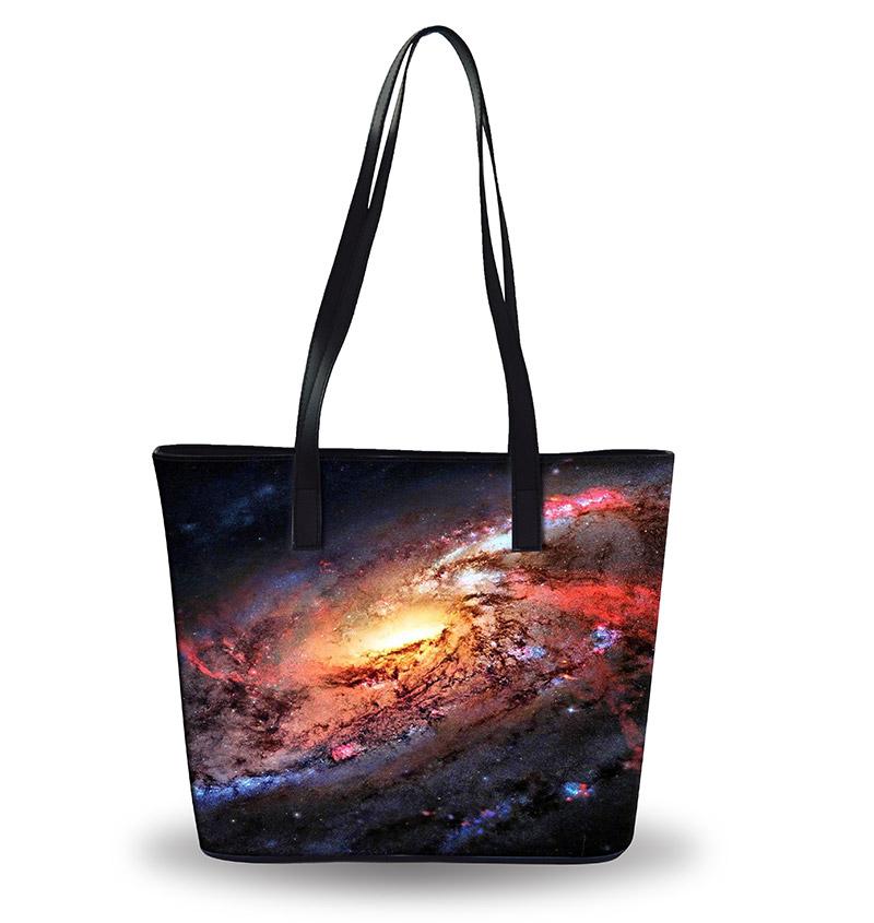 Рекламные многоразовые сумки на заказ Модные скайп шаблон Кожа Многоразовые сумки на заказ напечатанные Сделано в Китае