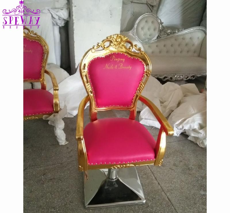 2020 le plus chaud style antique de salon de beauté chaises/rose chaises de coiffure