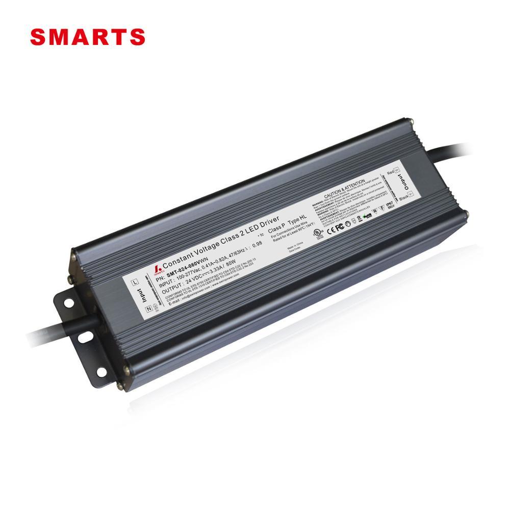 Sınıf 2 FCC 120 V 277 V AC 24 V 80 W DC CV LED güç kaynakları