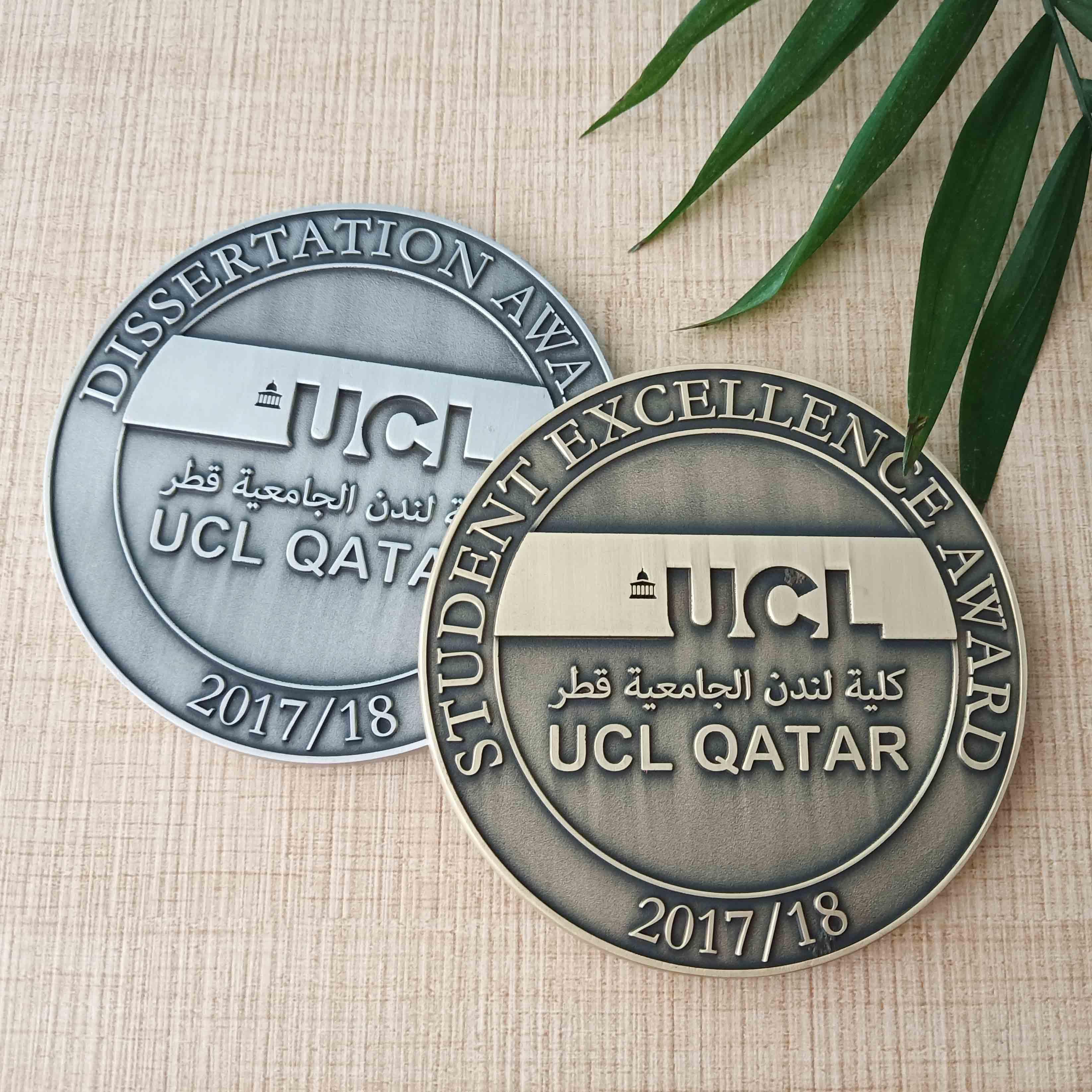 Пользовательские металлический сувенир монета держатель античная