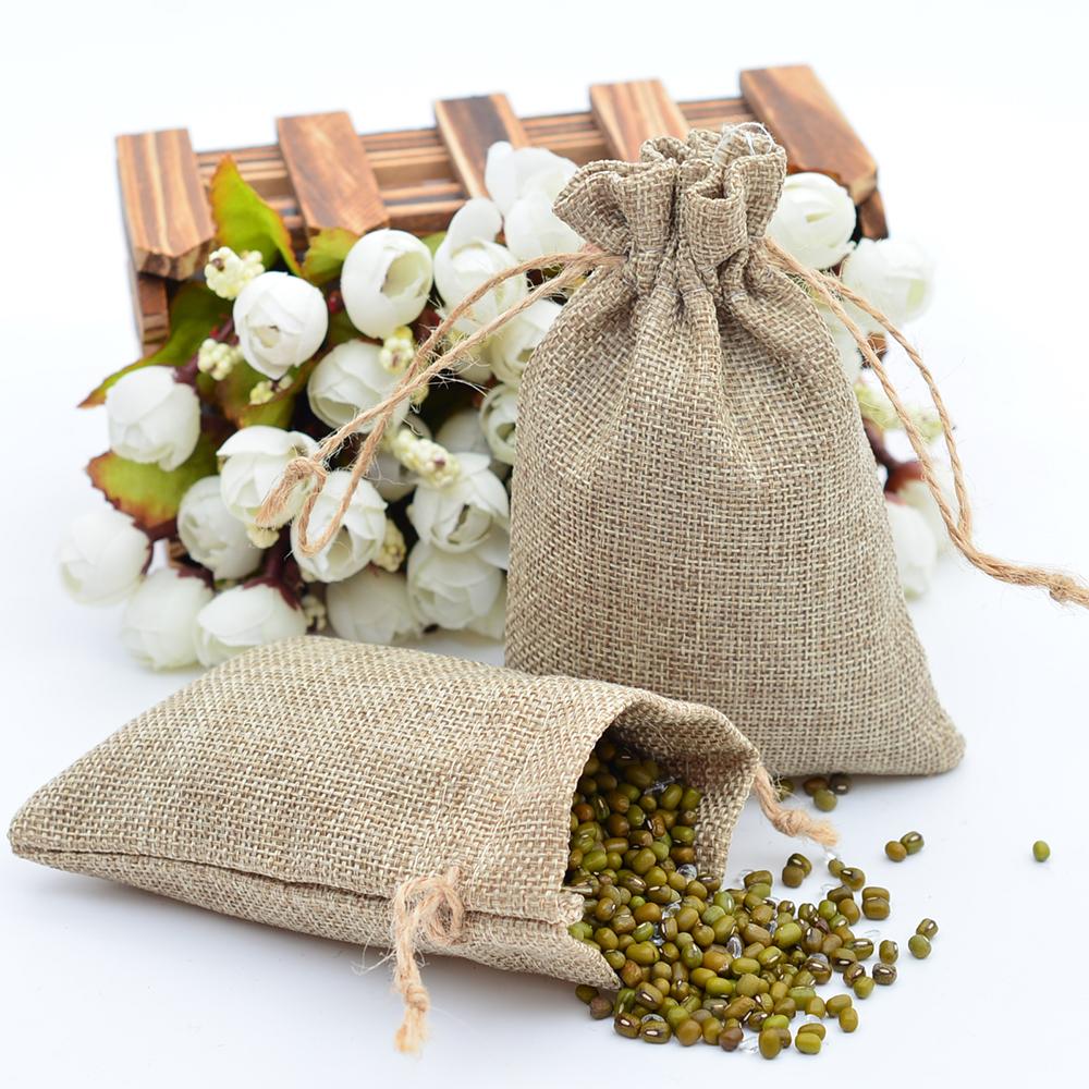 Магазин свадебных принадлежностей кофейные зерна в джутовом мешочке, украшенном веревкой, Рождественский подарочный пакет <span class=keywords><strong>из</strong></span> меш