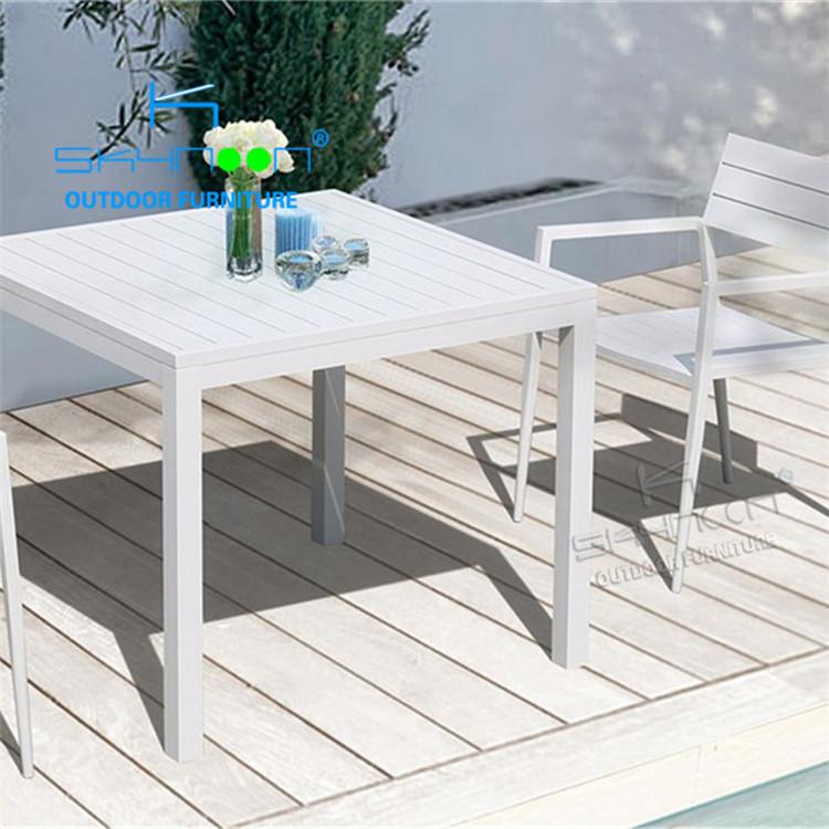 全天候パティオ家具白ビストロ椅子とテーブル庭屋外 3 個ホワイトビストロ椅子メーカービストロセット (31038)