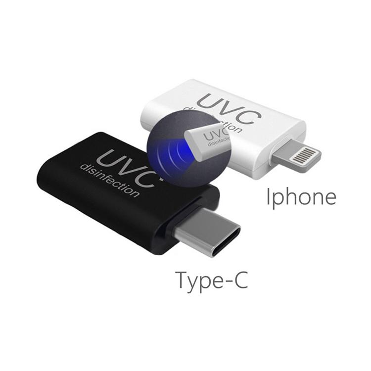 Yeni varış Mini Uvc Led ışık lamba dezenfeksiyon taşınabilir ışık Uv sterilizatör Usb Android için tip C ve Ios cep telefonu