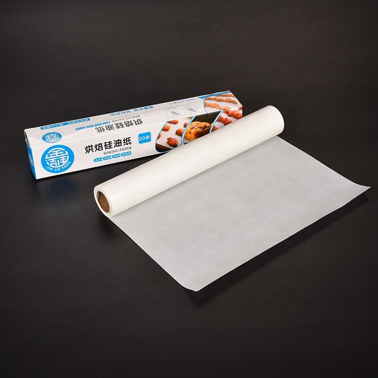 Özel logo ahşap hamuru silikon kaplı parşömen gıda yağlı kağıt