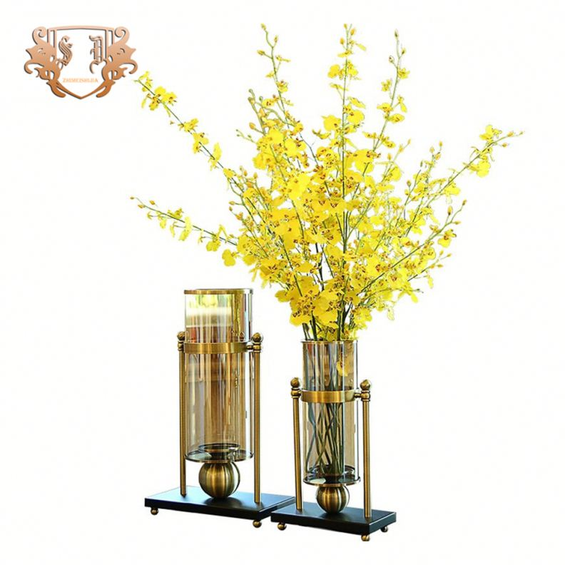 Высокий новый золотой кубок свадебные центральные стекло ваза с круглым дном для свадьбы