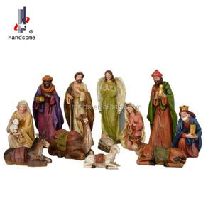 رخيصة عيد الميلاد الراتنج داخلي ديكور المهد مجموعة الميلاد المشهد