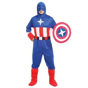 Halloween Mans Cosplay traje de capitán ropa América héroe patriótico de M-0097
