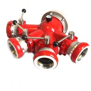XHYXFire 고품질 소방서 연결 4 웨이 Breeching 입구 드라이 라이저 밸브 랜딩 밸브 소방 장비