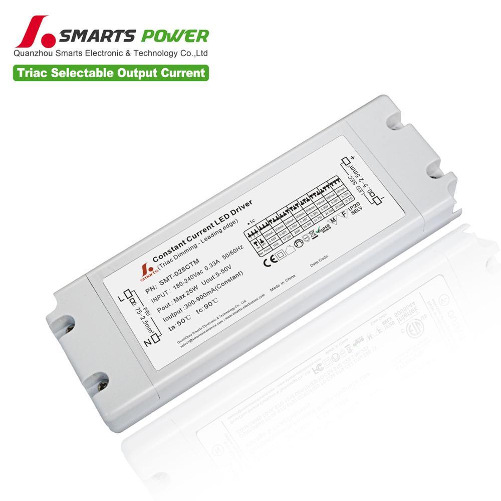 25w triyak kısılabilir 300-900ma çok akım LED sürücüsü