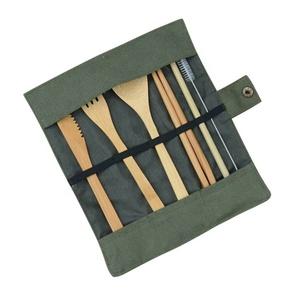 숟가락 및 포크 섬유 Kids 디너 Set 일회용 여행 Eco Friendly Reusable Bamboo 칼 Set