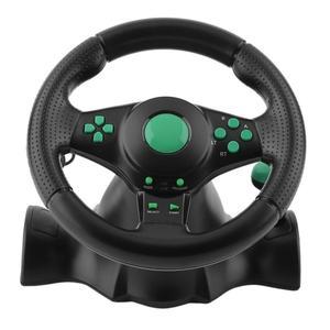 la computadora del coche rueda de rotación de 180 grados de vibración con pedales juego de carreras volante para Ps2 para Ps3