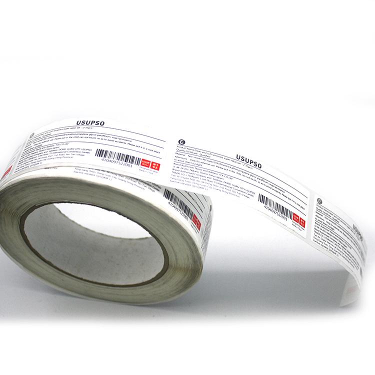 Saúde sem deixar cola à prova d' água etiquetas de código de barras adesivos adesivo vegetal fruta com sua impressão do logotipo