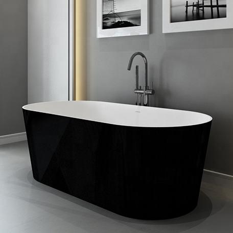 Fábrica de remolinos cinco estrellas hotel estándar nuevo huevo oval en forma de bañera cuarto de baño acrílico negro bañera