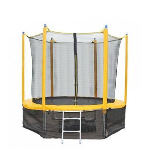 Trampolim Sundow Novo barato por atacado, portátil exercício pulando de fitness 8ft trampolim com rede de segurança