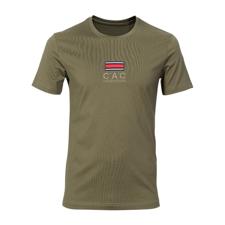 Taille américaine 65 coton 35 polyester t-shirt personnalisé 6x hommes t-shirts 90% coton 10% polyester t-shirt logo