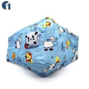 Superior calidad reutilizable de la contaminación del aire pm2.5 de niño de algodón máscara protectora con filtro de válvula de