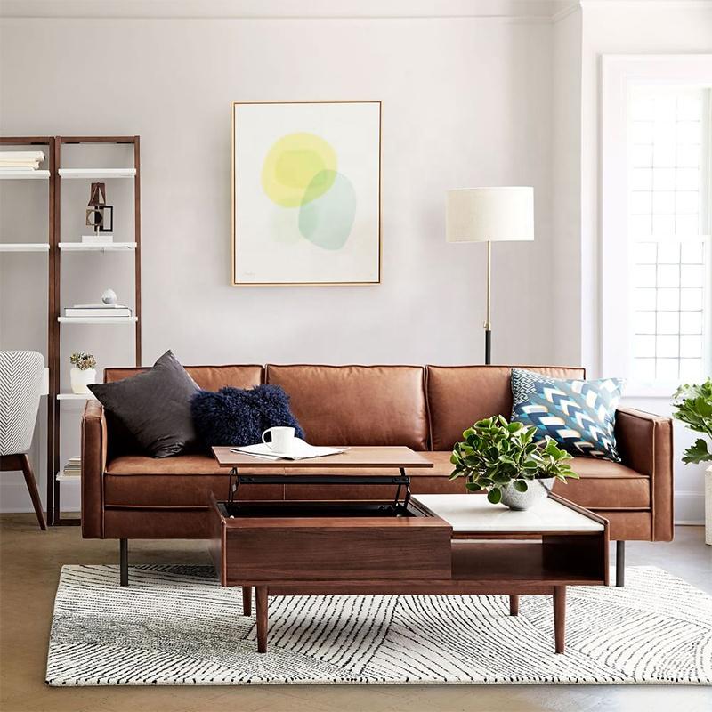Popular Casa de muebles de cuero sofá establece película mismo sofá de estilo