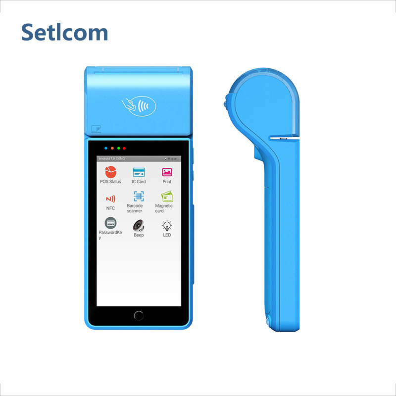 Setlcom ST1 All in One Palmare Android Smart Terminale <span class=keywords><strong>Pos</strong></span> Hardware Integrazione 1D/2D Con 58 millimetri Stampante Termica