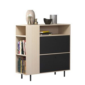 جديد تصميم متعددة وظيفة الخشب مخصص مجلس الوزراء درج مع رف الكتب الأثاث