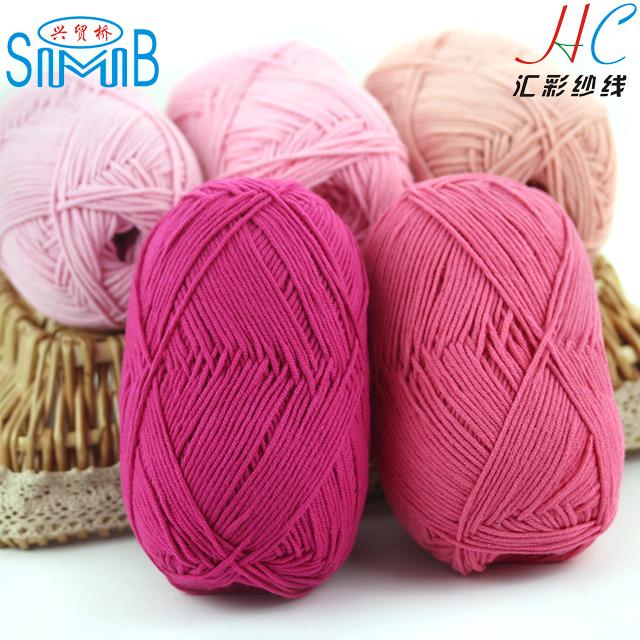 Ganchillo hilo en conos en hanks made in china 60 algodón 40 acrílico mezclado hilo de tejer