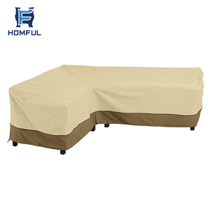HOMFUL Garden L-Shaped Sofa Furniture Cover Patio Sectional Sofa Cover