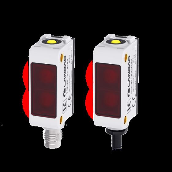 PSE tipo cuadrado de multi función compacto sensor fotoeléctrico amplio rango de detección pasar posición detección tamaño