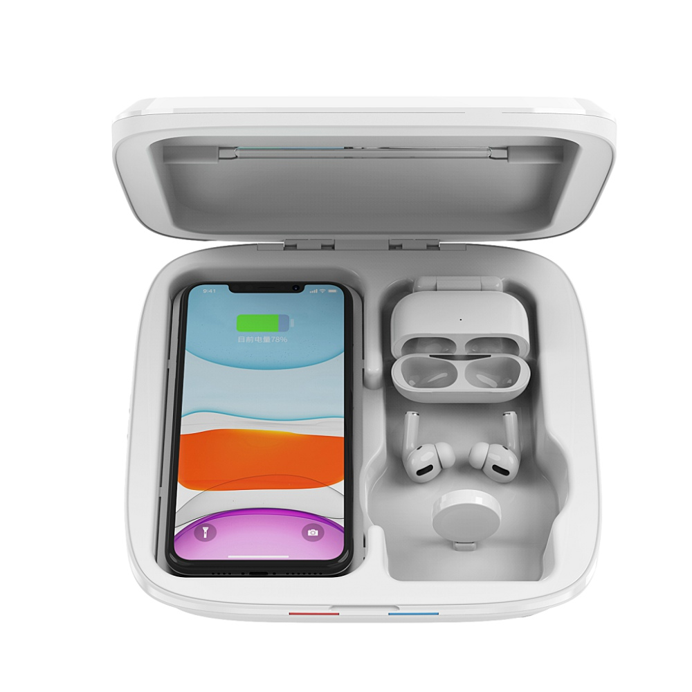 紫外線消毒ボックススマート電話殺菌機能電話消毒 4 で 1 led uvライト消毒スマート携帯電話