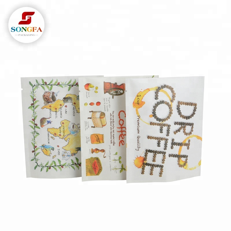Sachê bolsa de papel da folha de alumínio sacos de embalagem de café à venda