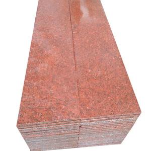 Hubei propia cantera de precio más bajo teñida de rojo granito para la piedra de pavimentación