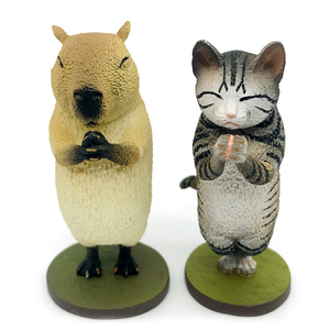 customize new kids novelty recycled cartoon figure kungfu effort toys plastic animal figurine