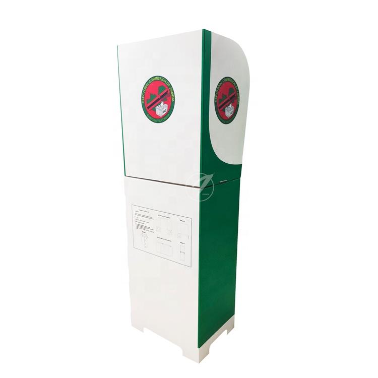 Alta calidad independiente de cartón elección Estación de cabina de votación de los votantes