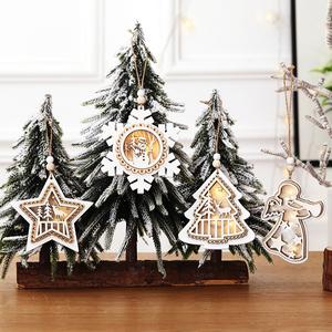 스타 눈송이 천사 비어있는 크리스마스 트리 펜던트 크리 에이 티브 크리스마스 벽 매달려