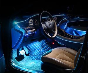 Yepyeni RGB soğuk el tel araba iç ışık neon glow led araba iç için mix renkler araba