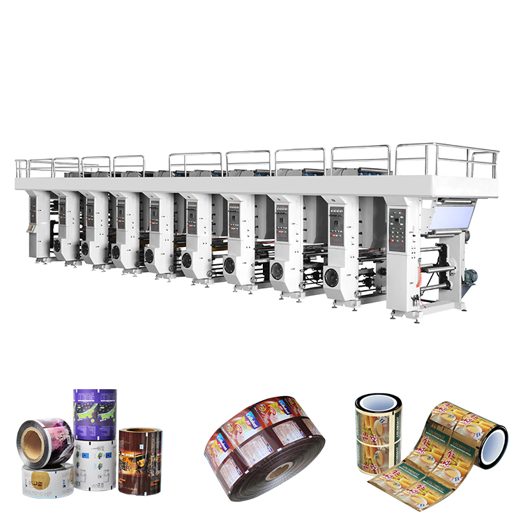 ZRAY-C 800-1200 çin rulo kağıt pe film gravür rotogravür baskı makinesi fiyatları