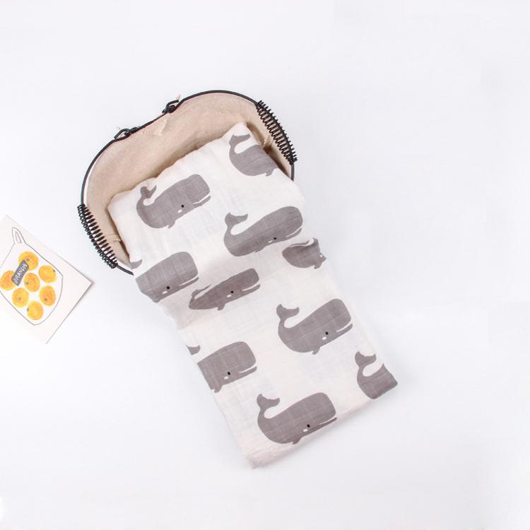 Meilleur Vendeur AUX ÉTATS-UNIS 2019 Bio Coton Mousseline Couverture De Bébé Super Doux multi-usage Couvre