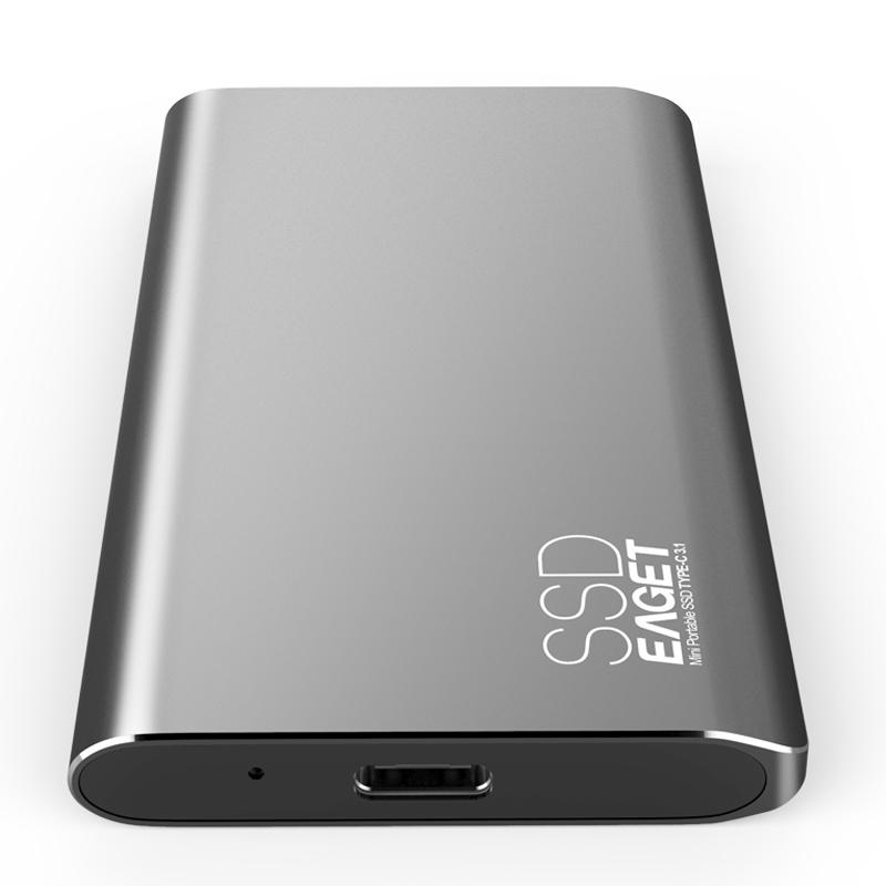 EAGET 2 TO usb lecteur flash USB 3.1 Disque Dur externe DFSP SSD 500 MO/S EN Lecture Mobile Lecteur À État Solide ssd 2 TO