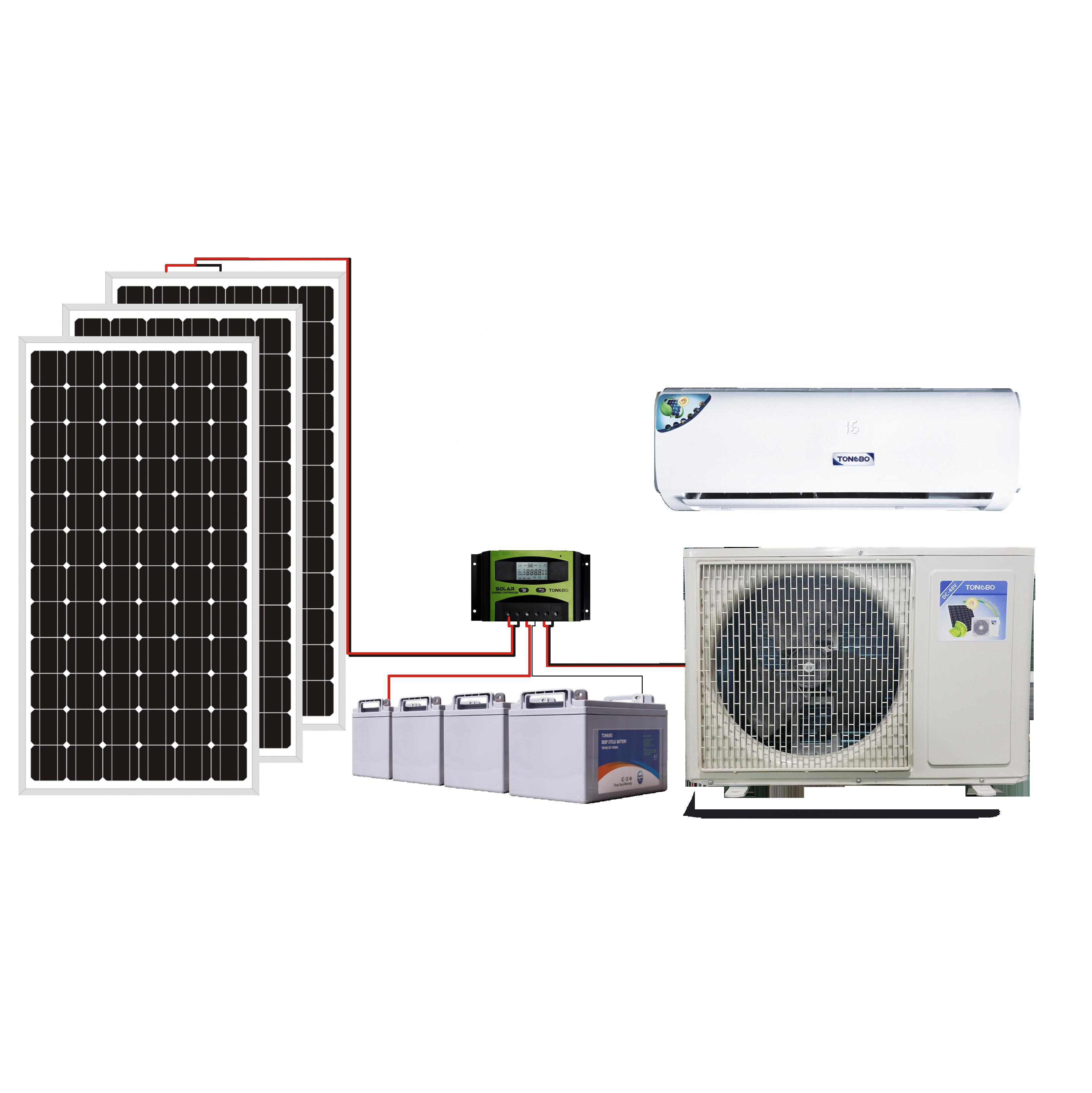 Di Alta Qualità Dc Hybrid Inverter Ac Tubo a Vuoto Solare Alimentato Condizionatore D'aria Portatile