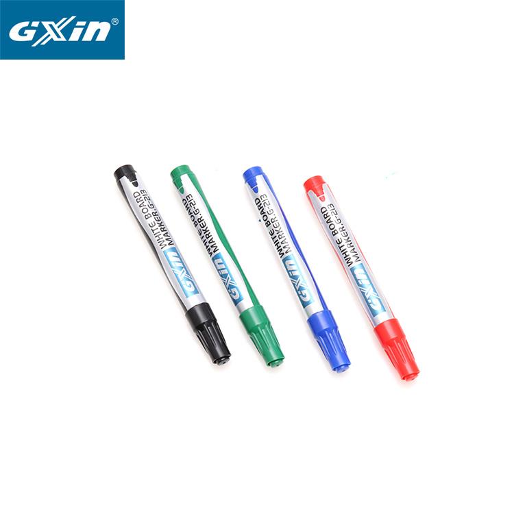 مناسبة للطلاب أربعة ألوان <span class=keywords><strong>الجافة</strong></span> <span class=keywords><strong>محو</strong></span> بريق إعادة الملء القلم السبورة علامة