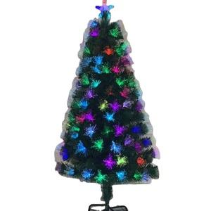 2020 nuevo producto de fábrica todo colorido led de fibra óptica árbol de Navidad base