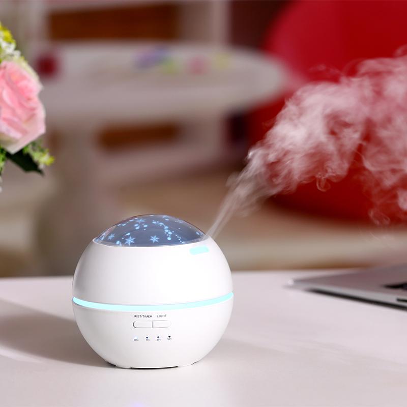 한국 뜨거운 시장 홈 선물 초음파 공기 가습기 아로마 테라피 및 에센셜 오일 디퓨저